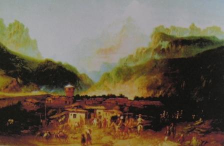 Б.П.Виллевальде. Вид Владикавказа. 1860 г.