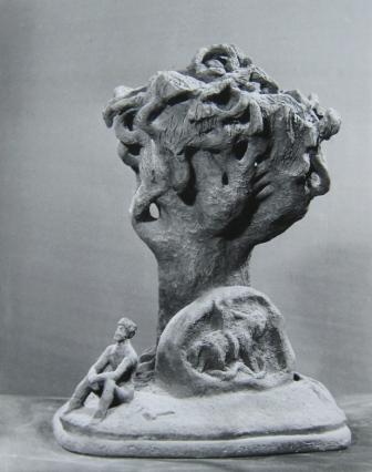 Эта работа Михаила Дзбоева, посвященная самобытному осетинскому скульптору Сосланбеку Едзиеву, была опубликована в 1989 г. в журнале «Юный художник».
