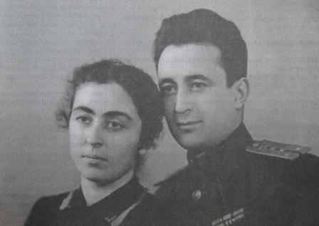 С мужем А. Хадзараговым.