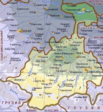 Административная структура Северной Осетии почти 50 лет остается стабильной