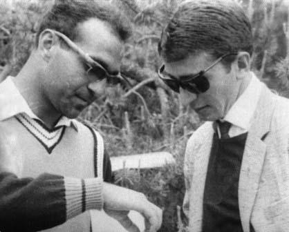 В команде 1960-х все были дружны, атмосфера была превосходная. Гарегин БУДАГЯН и Альберт ПЛИЕВ на сборах. 1966 г.