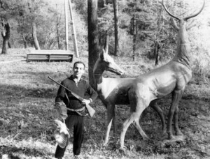 С охотничьими трофеями на Сапицкой. 1966 г.
