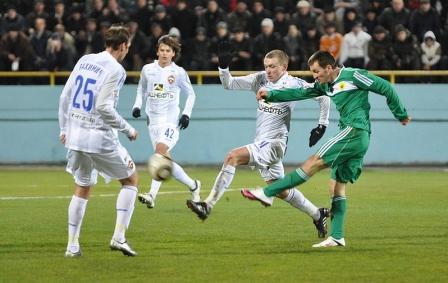 Давид Цораев в матче с ЦСКА очень старался.