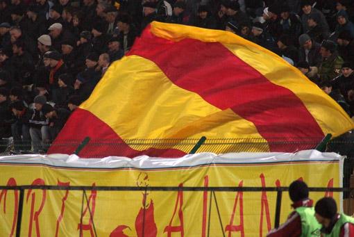 Аланский флаг должен был придать дополнительный фарт.