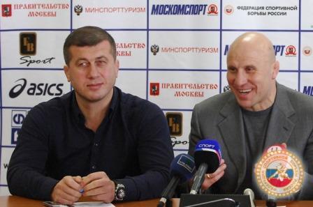 Дзамболат Тедеев и Михаил Мамиашвили на пресс-конференции перед Кубком мира.