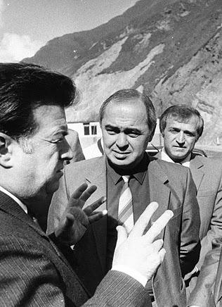 На строительстве Рокского тоннеля. 1989 г.
