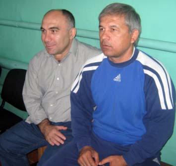 Два главных тренера, два друга - Руслан Савлохов и Малик Тедеев.