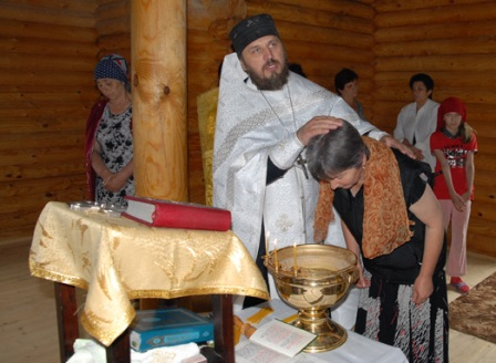 Крещение в горном храме
