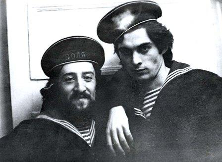 Такая студенческая дружба не стареет. Д.Хамикоев и В.Цариев.