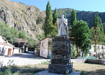 Памятник Коста Хетагурову в Мизуре.