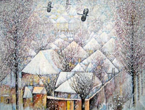 Батраз ДЗИОВ. Падает снег.