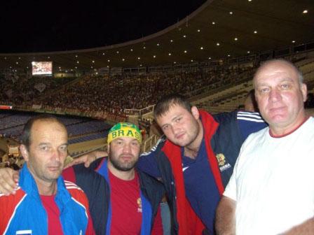 В Рио-де-Жанейро, как дома - Алик Бекузаров, Тамерлан Тменов, Сослан Джанаев и Андрей Тибилов.