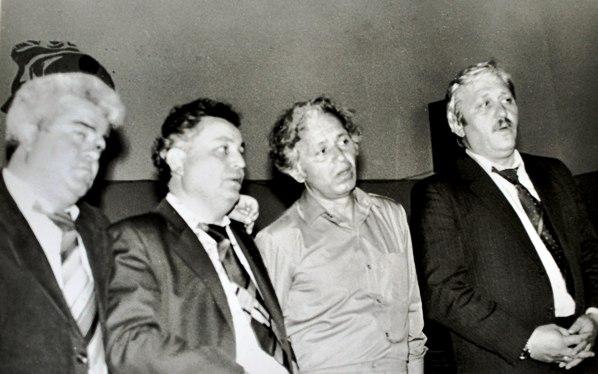 Музыкальный квартет: Виктор Габараев, Феликс Алборов, Алихан Тедеев, Ким Суанов.