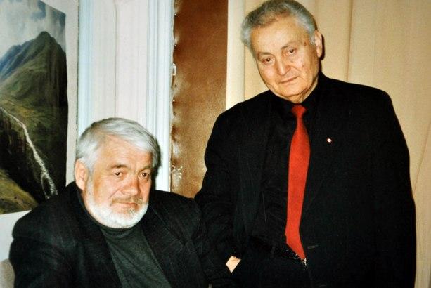 Авторы гимна Южной Осетии – Тотрадз Кокайты и Феликс Алборов. 1998 г.