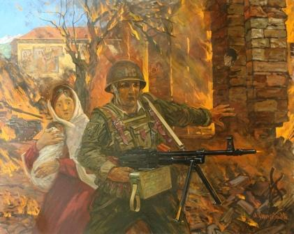 """Спасибо русскому солдату"", 2009 г."