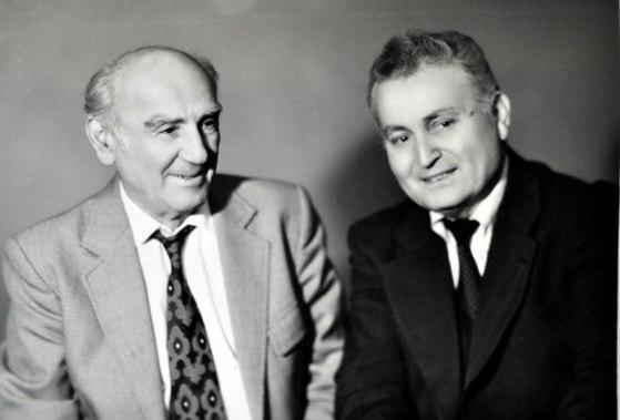 Два мэтра. Дудар Хаханов и Феликс Алборов. 1992 год.