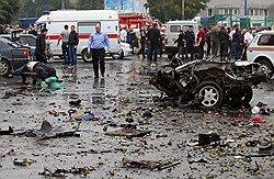Смерть вписалась в рынок // Центр Владикавказа взорвали в пятый раз за последние десять лет