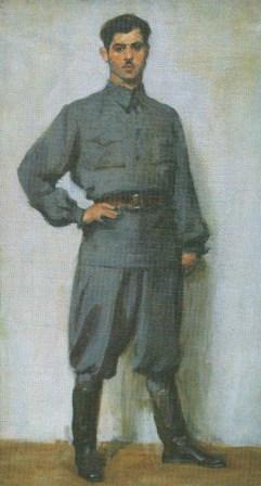 Народный художник СССР В.Орешников. Портрет Батра Калманова.
