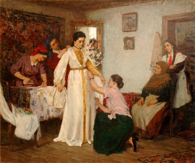 Батр КАЛМАНОВ. Одевание невесты.