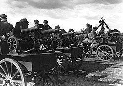 Руководители северокавказских автономий пытались разрешить пограничные споры, применяя пулеметы против соседних советских республик и областей. Фото: РГАКФД/Росинформ/РГАКФД/Росинформ