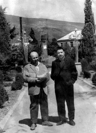 Цхинвал. Поэтическое содружество Хаджи-Мурата Дзуццати и Юрия Левитанского.