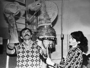 Ведущие актеры театра - Владимир Рамонов и Алла Гаева. 1987 г.
