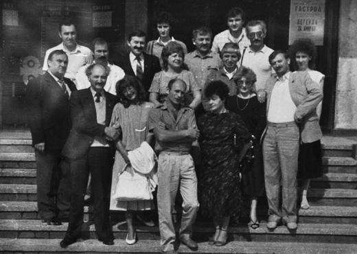 """Коллектив театра """"Саби"""" на гастролях в Болгарии, 1989 г."""