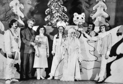 """С новогодних спектаклей и начался творческий путь А.Гаевой в """"Саби""""."""