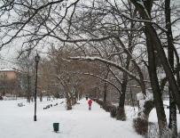 Первый день весны во Владикавказе оказался зимним