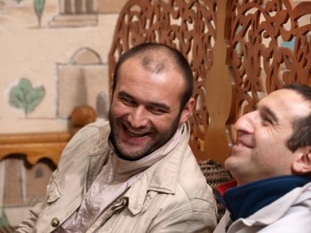 Бесо Гатаев и Сослан Фидаров партнеры в кино и друзья в жизни.