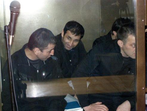 """Подсудимые улыбались и перешептывались друг с другом  Фото: """"Комсомольская правда""""."""