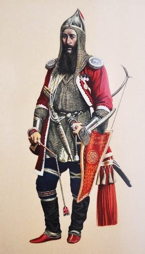 Элькон АБИСАЛОВ, обер офицер Л.-Гв. Кавказского Горского полуэскадрона.