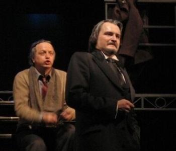 В роли Боркмана в спектакле «Серебряные колокольчики» (ЦАТРА).