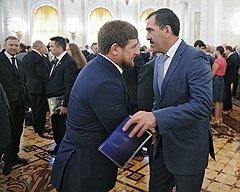 Рамзан Кадыров и Юнус-Бек Евкуров столкнулись на похоронах