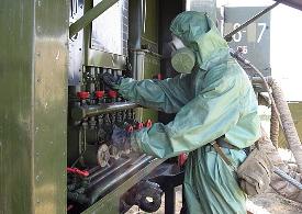 На полигоне в Северной Осетии прошел конкурс на лучшего химика-разведчика 58-й армии