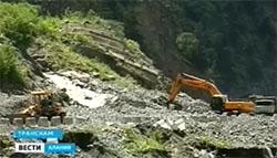 В Северной Осетии на Транскавказской автомагистрали произошел сход камней