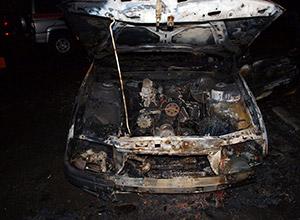 Во Владикавказе сгорела «Опель-Омега» из-за несоблюдения правил безопасности