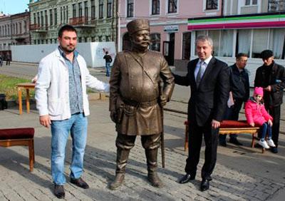 В исторической части Владикавказа открыта скульптура городового
