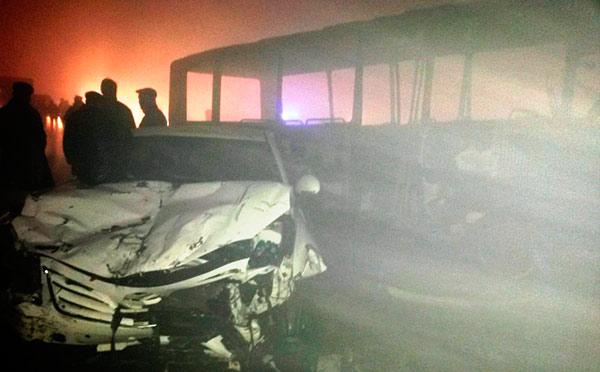 В Кабардино-Балкарии на трассе «Кавказ» 17 автомобилей попали в ДТП. Четверо погибших