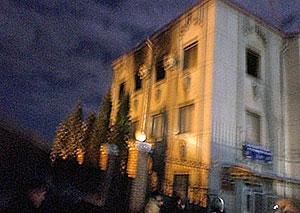 В Ингушетии едва не сгорело здание мэрии Назрани