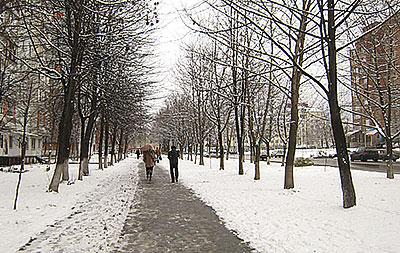 Владикавказ встретил старый Новый год долгожданным снегом