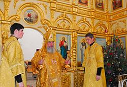 Архиепископ Зосима возглавил Рождественскую литургию в соборе Святого Георгия