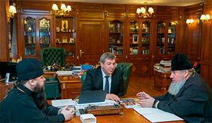 Игорь Слюняев обсудил с епископом Варлаамом и архиепископом Зосимой этнокультурное развитие народов России