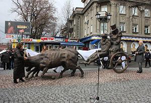 Во Владикавказе появился самый необычный памятник Пушкину