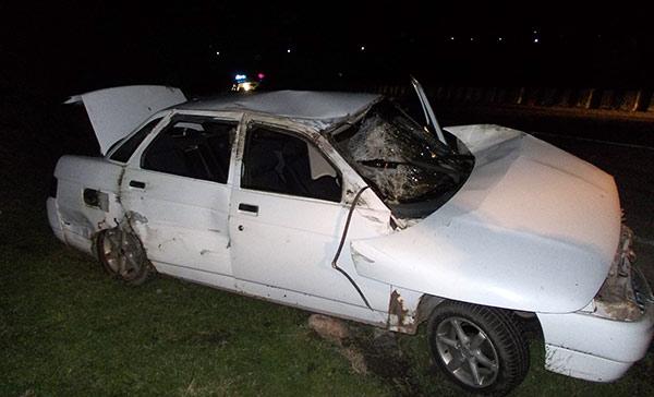 Водитель «Жигулей» сломал ребро в результате опрокидывания автомобиля
