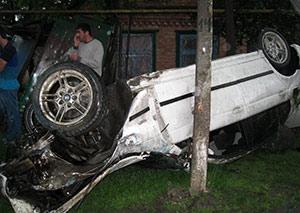 На федеральной трассе «Кавказ» иномарка вылетела в кювет