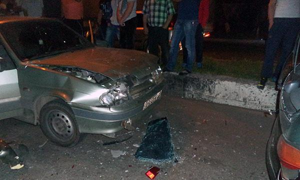 Ночью во Владикавказе произошло два ДТП с участием семи (!) автомобилей