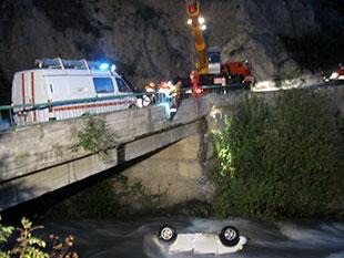 В Куртатинском ущелье «Мерседес» опрокинулся в реку, водитель погиб