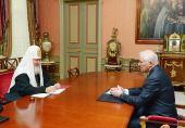Святейший Патриарх КИРИЛЛ встретился с Президентом Республики Южная Осетия