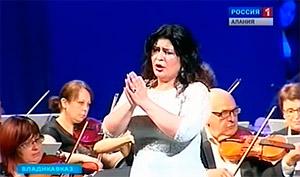 Во Владикавказе прошел сольный концерт оперной дивы Вероники ДЖИОЕВОЙ